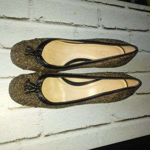 Ann Taylor Loft Brown Specked Heeled Shoes